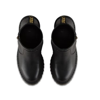 Dr Martens Ankle & Booties Plain Toe Casual Style Plain Leather Block Heels 3