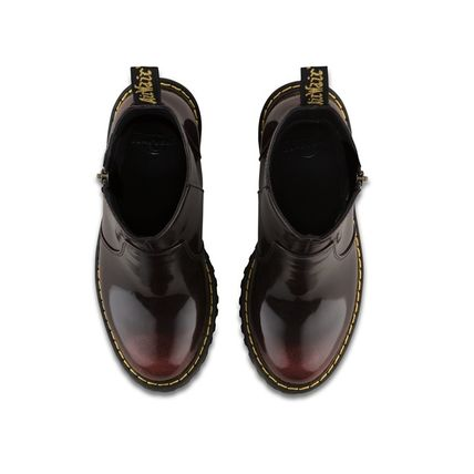 Dr Martens Ankle & Booties Plain Toe Casual Style Plain Leather Block Heels 6