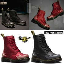 Dr Martens Round Toe Rubber Sole Lace-up Casual Style Unisex Bi-color
