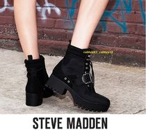 Steve Madden Mountain Boots Rubber Sole Casual Style Plain Leather