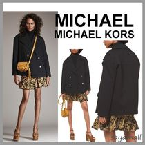 Michael Kors Short Casual Style Plain Peacoats