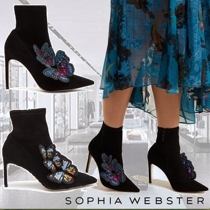 Suede Plain Other Animal Patterns Mid Heel Boots