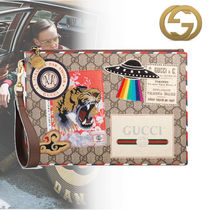 GUCCI Blended Fabrics Leather Bags