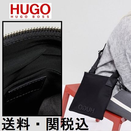 Casual Style Nylon Shoulder Bags