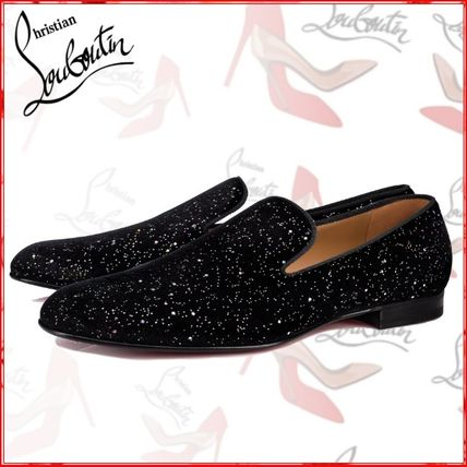 ea1e477d0045 ... Christian Louboutin Loafers   Slip-ons Plain Toe Suede Blended Fabrics  Loafers ...