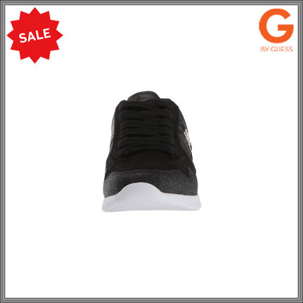 G BY GUESS Round Toe Lace-up Casual Style Plain Low-Top Sneakers