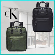 Calvin Klein Camouflage Casual Style Nylon Plain Backpacks