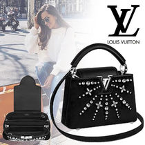 Louis Vuitton CAPUCINES Blended Fabrics 3WAY With Jewels Elegant Style Handbags