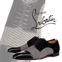 Christian Louboutin Straight Tip Blended Fabrics Plain Leather Shoes