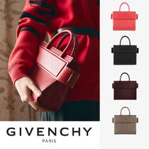 GIVENCHY HORIZON 2WAY Plain Leather Handbags