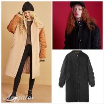 ELF SACK Casual Style Wool Blended Fabrics Street Style Bi-color