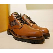 Louis Vuitton DAMIER Plain Toe Mountain Boots Blended Fabrics Street Style
