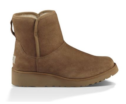 UGG Australia Flat Round Toe Casual Style Suede Plain Flat Boots 6