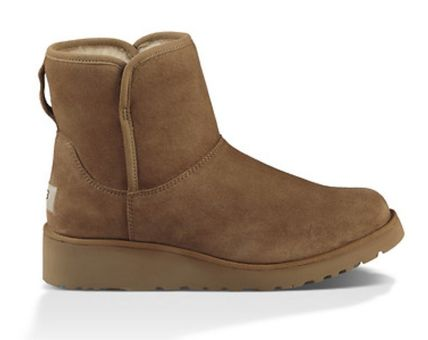 UGG Australia Flat Round Toe Casual Style Suede Plain Flat Boots 8