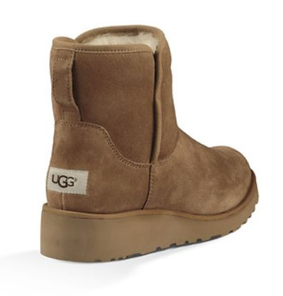 UGG Australia Flat Round Toe Casual Style Suede Plain Flat Boots 9