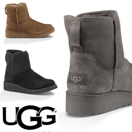 UGG Australia Flat Round Toe Casual Style Suede Plain Flat Boots 16