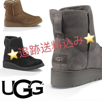 UGG Australia Flat Round Toe Casual Style Suede Plain Flat Boots