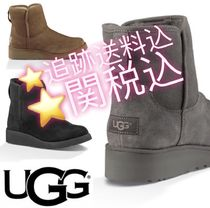 UGG Australia KRISTIN Round Toe Casual Style Suede Plain Flat Boots