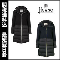 HERNO Wool Plain Medium Down Jackets