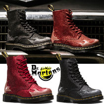 Dr Martens Lace-up Casual Style Unisex Street Style Lace-up Boots