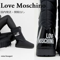 Moschino Rubber Sole Lace-up Casual Style Lace-up Boots