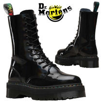 Dr Martens Platform Lace-up Enamel Street Style Plain Lace-up Boots