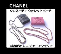 CHANEL CHAIN WALLET Chain Leather Party Style Shoulder Bags