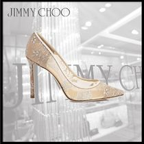 Jimmy Choo Flower Patterns Pointed Toe Pumps & Mules