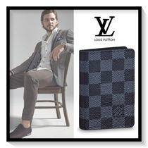 Louis Vuitton Other Check Patterns Canvas Blended Fabrics Card Holders