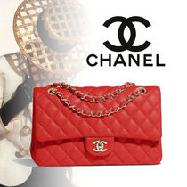 CHANEL TIMELESS CLASSICS Calfskin Blended Fabrics 2WAY Chain Plain Elegant Style