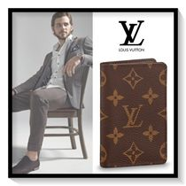 Louis Vuitton Monogram Canvas Blended Fabrics Card Holders