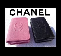 CHANEL TIMELESS CLASSICS Unisex Leather Folding Wallets