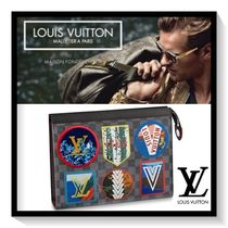 Louis Vuitton Other Check Patterns Canvas Blended Fabrics
