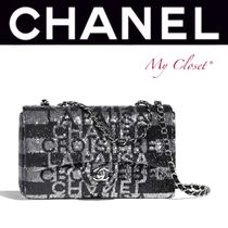 CHANEL ICON Stripes Street Style 2WAY Handmade With Jewels Elegant Style
