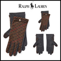 Ralph Lauren Other Check Patterns Wool Smartphone Use Gloves