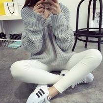 Cable Knit Casual Style Long Sleeves Long Knitwear