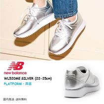 New Balance Platform Casual Style Street Style Plain Leather