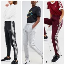 adidas Stripes Casual Style Street Style Cotton Long Bottoms