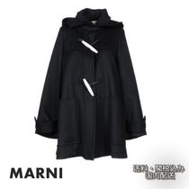 MARNI Wool Plain Medium Duffle Coats