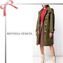 BOTTEGA VENETA Casual Style Cashmere Plain Long Duffle Coats