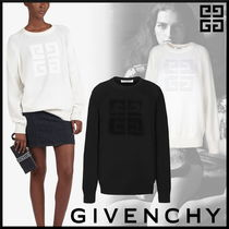 GIVENCHY Casual Style Cashmere Street Style Long Sleeves Medium