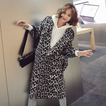 Leopard Patterns Casual Style Long Outerwear