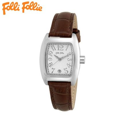 Leather Square Quartz Watches Elegant Style Analog Watches