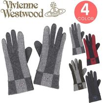 Vivienne Westwood Other Check Patterns Wool Smartphone Use Gloves
