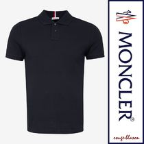 MONCLER Street Style Plain Cotton Short Sleeves Logos on the Sleeves