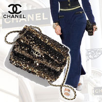 CHANEL Blended Fabrics 2WAY Chain Plain Home Party Ideas