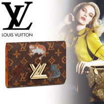 Louis Vuitton Monogram Blended Fabrics Other Animal Patterns Leather