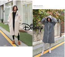 Disney Casual Style Street Style Long Outerwear