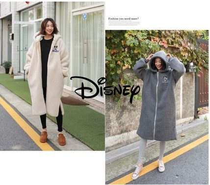 Casual Style Street Style Long Outerwear