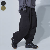 OPEN THE DOOR Unisex Nylon Street Style Plain Cargo Pants